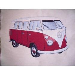 Kissenplatte Bus