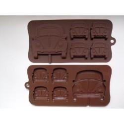 Schokoladenform Bulli 1 - Käfer 2